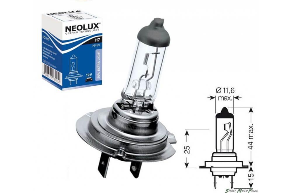 ampoule h7 12v 55w neolux pour moto quad scooter street. Black Bedroom Furniture Sets. Home Design Ideas