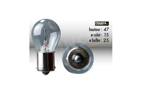 ampoule stop clignotant 6v 21w ba15s ring pour moto quad scooter street moto piece. Black Bedroom Furniture Sets. Home Design Ideas