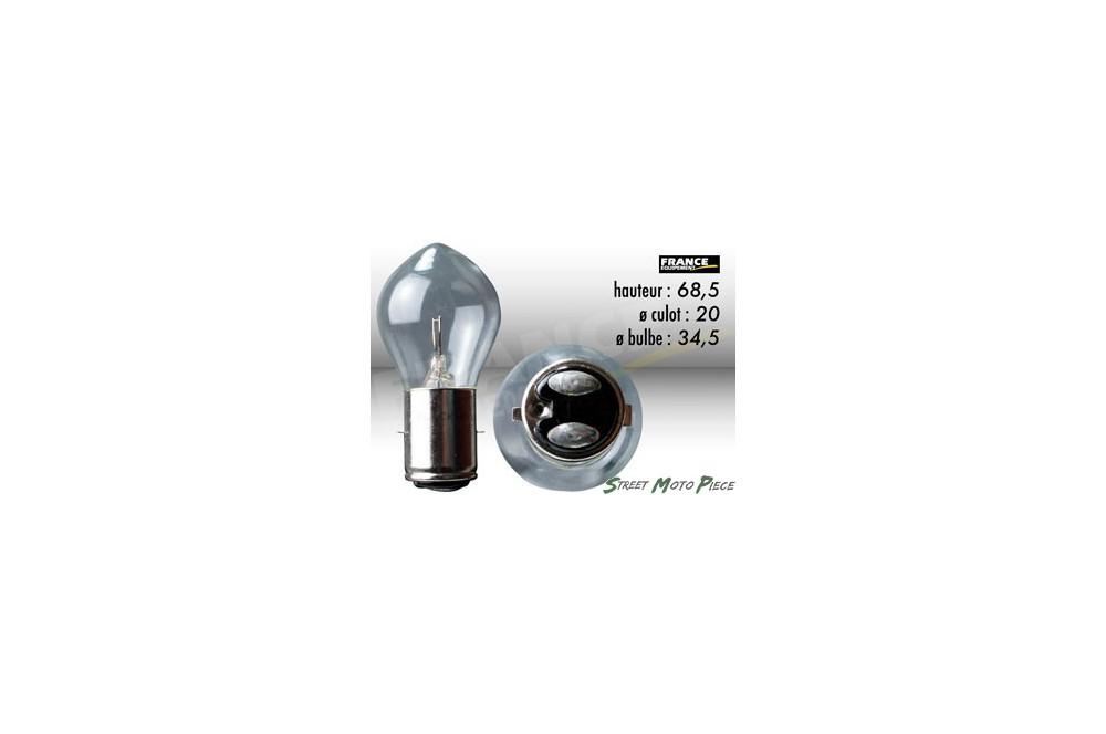 ampoule phare 6v 15w ba20d ring pour moto quad scooter street moto piece. Black Bedroom Furniture Sets. Home Design Ideas