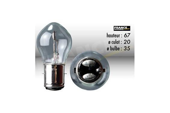 ampoule de phare 6v 35 35w ba20d ring pour moto quad scooter street moto piece. Black Bedroom Furniture Sets. Home Design Ideas