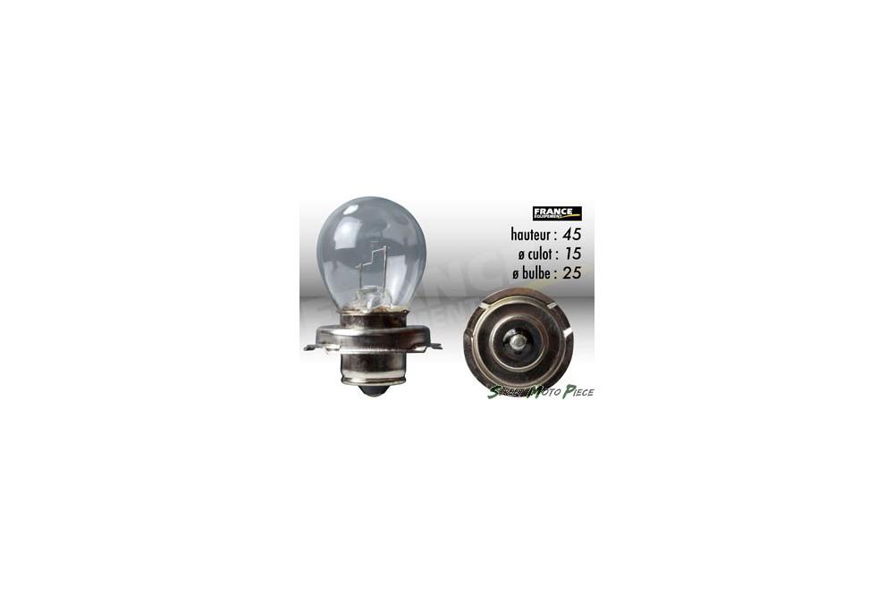ampoule phare 6v 15w p26s ring pour moto quad scooter street moto piece. Black Bedroom Furniture Sets. Home Design Ideas