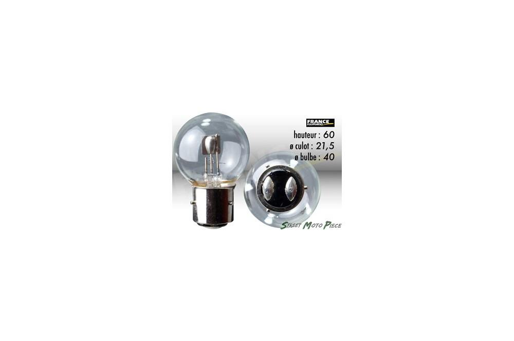 ampoule phare ba21d 6v 40 45w ring pour moto quad scooter street moto piece. Black Bedroom Furniture Sets. Home Design Ideas