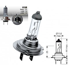 Ampoule H7 12V-55W RING Xenon Max + 100% pour Moto-Quad-Scooter