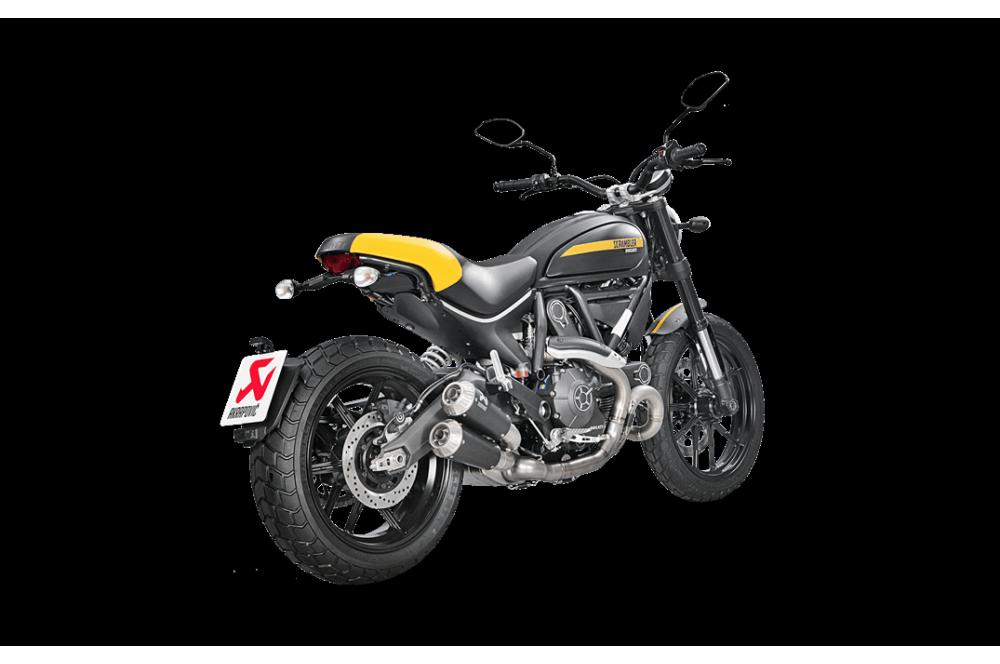silencieux akrapovic homologu pour ducati scrambler 15 18 street moto piece. Black Bedroom Furniture Sets. Home Design Ideas