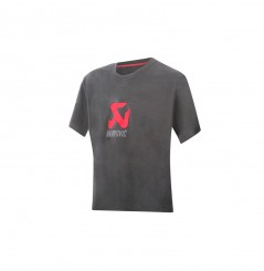 T-Shirt Femme AKRAPOVIC LOGO Gris