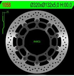 Disque de frein avant NG Brake pour FZ1 (06-16) YZF R1 (04-06) MT10 (16-18)
