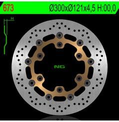 Disque de frein avant NG Brake pour Suzuki 650 Freewind (97-03)