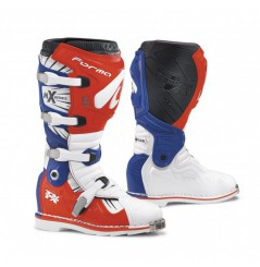 Bottes Moto Cross Forma TERRAIN TX Bleu - Blanc - Rouge
