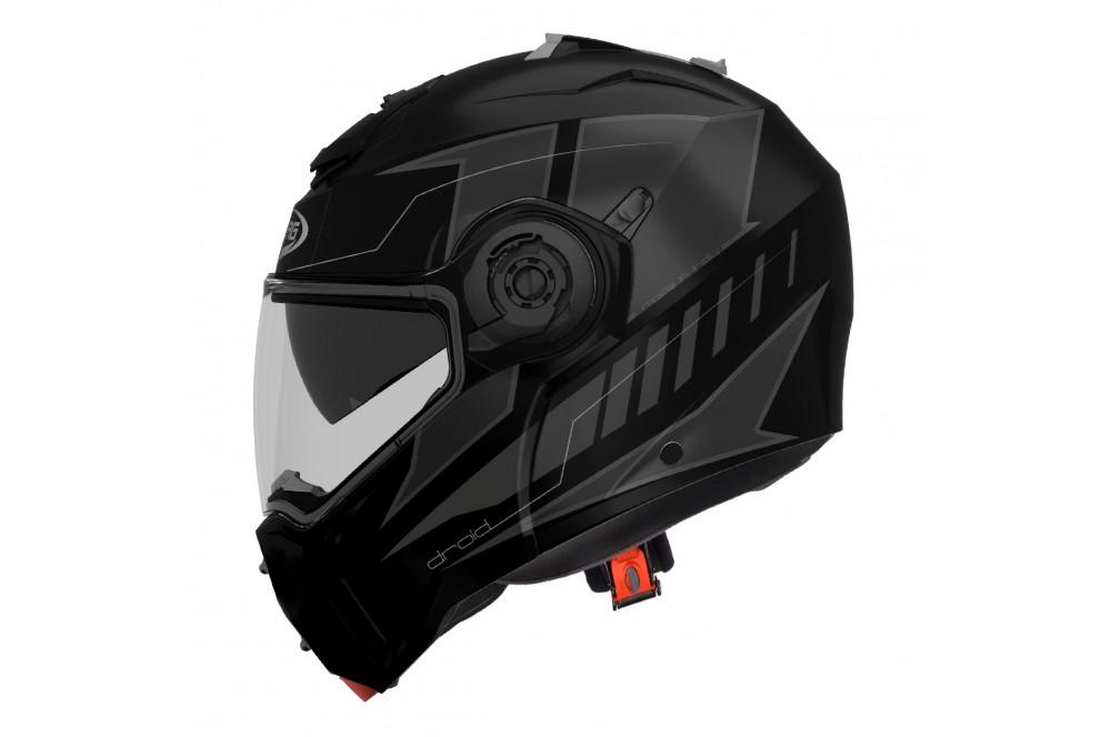 Casque Moto Modulable Caberg Droid Noir Mat Gris Street Moto Piece