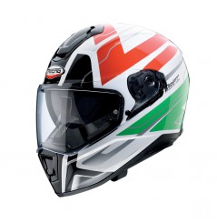 Casque Moto CABERG DRIFT SHADOW Vert - Blanc - Rouge