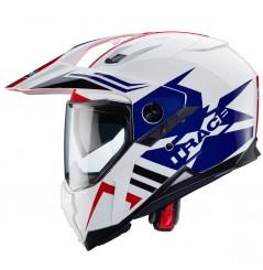 Casque Moto CABERG XTRACE Bleu - Blanc - Rouge