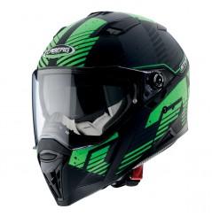 Casque Moto CABERG STUNT BLIZZARD Noir Mat - Vert