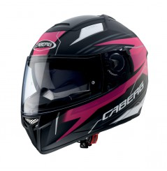 Casque Moto Caberg EGO Noir Mat - Rose