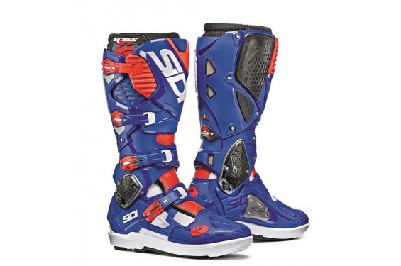 botte moto cross sidi crossfire 3 srs bleu blanc rouge street moto piece. Black Bedroom Furniture Sets. Home Design Ideas