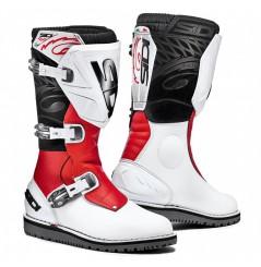 Bottes Moto SIDI TRIAL ZERO 1 Blanc - Rouge