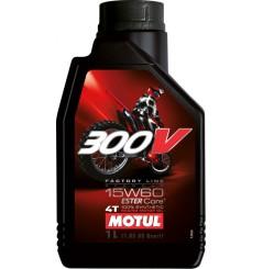 Huile moto Motul 300V 15w60 Factory Line Off Road 1 Litre