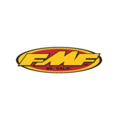 Stickers FMF Rouge - Jaune 12.7 cm