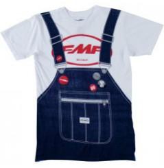 T-Shirt FMF OVERALL Blanc - Bleu