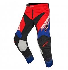 Pantalon Cross Enfant Alpinestars RACER SUPERMATIC Bleu - Blanc - Rouge
