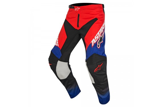 Pantalon Cross Enfant Alpinestars RACER SUPERMATIC Bleu - Blanc - Rouge