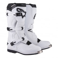 Bottes Moto Cross TECH1 Alpinestars Blanc