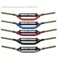 Guidon Moto-Quad Rouge RENTHAL TwinWall Haut Diamètres 28.6 mm