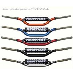 Guidon Moto Rouge RENTHAL TwinWall Haut Diamètres 28.6 mm