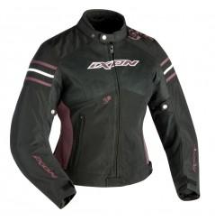 Blouson Moto Femme Ixon Electra Noir - Aubergine