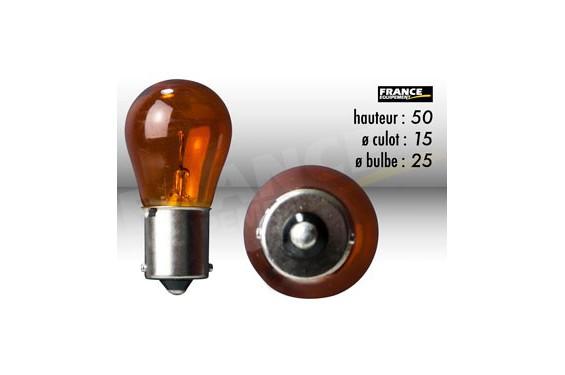 ampoule clignotant orange 12v 21w ba15s ring pour moto quad scooter street moto piece. Black Bedroom Furniture Sets. Home Design Ideas