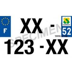 Plaque d'Immatriculation 210x130 Homologué pour Moto en Plexi