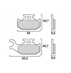 Plaquette de frein Arrière Droit Brembo 07GR50 SD
