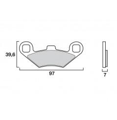 Plaquette de frein Arrière Brembo 07PO02 SD