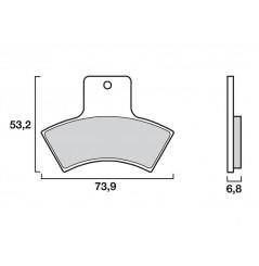 Plaquette de frein Arrière Brembo 07PO04 SD
