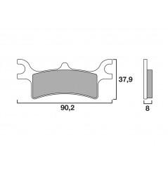 Plaquette de frein Arrière Brembo 07PO06 SX
