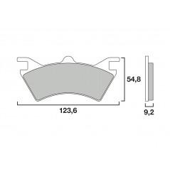 Plaquette de frein Arrière Brembo 07PO05 SX