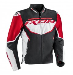 Blouson Moto CE Ixon SPRINTER Noir - Blanc - Rouge