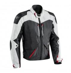 Veste Moto CE Ixon ARTHUS Noir - Gris - Rouge
