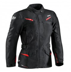 Veste Moto CE Ixon SUMMIT 2 LADY Noir - Rouge