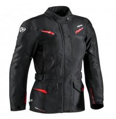 Veste Moto CE Femme Ixon SUMMIT 2 LADY Noir - Rouge