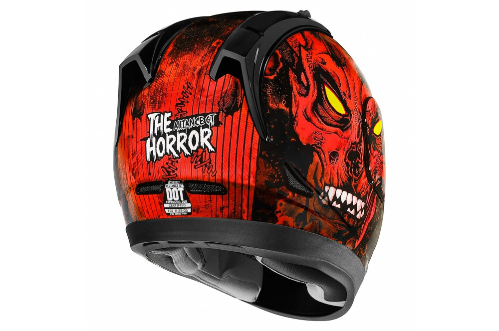 Casque Moto Icon Alliance Gt The Horror Rouge Street