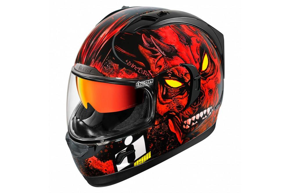 casque moto icon alliance gt the horror rouge street moto piece. Black Bedroom Furniture Sets. Home Design Ideas