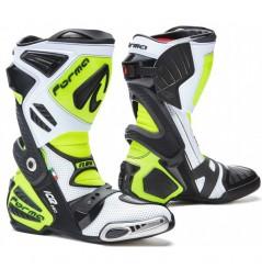 Bottes Moto Racing Forma ICE PRO FLOW Noir - Blanc - Jaune