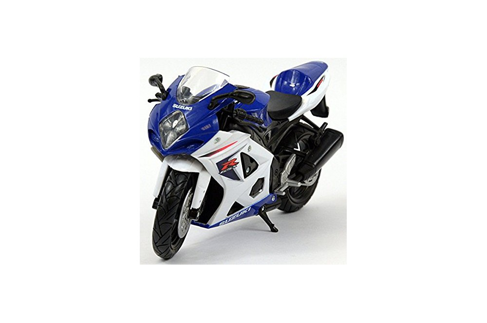 maquette moto 1 12 me suzuki gsx r 1000 bleu blanc 07 08 street moto piece. Black Bedroom Furniture Sets. Home Design Ideas