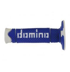Poignée Moto Domino Full Grip Bleu Blanc