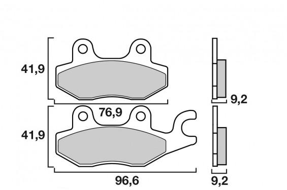 Plaquette de frein Avant Brembo 07033 XS