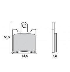 Plaquette de frein Avant Brembo 07037 XS