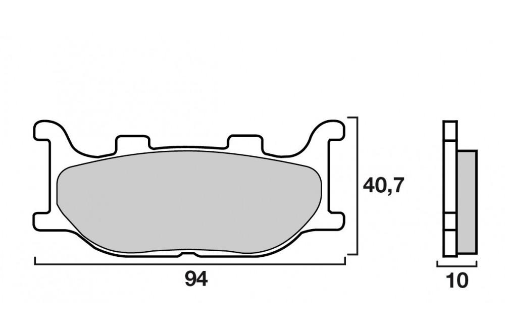 plaquette de frein avant brembo 07042 cc street moto piece. Black Bedroom Furniture Sets. Home Design Ideas