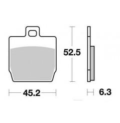 Plaquette de frein Arrière Brembo 07066 XS