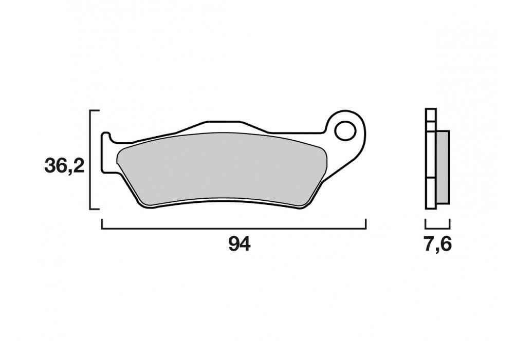 plaquette de frein arri re brembo 07bb04sp street moto piece. Black Bedroom Furniture Sets. Home Design Ideas