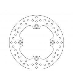 Disque de frein arrière Brembo pour Husqvarna 125 WR (00-05) 125 WRE (00-09) 125 CR (00-04)
